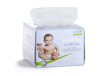 Dry baby wipes